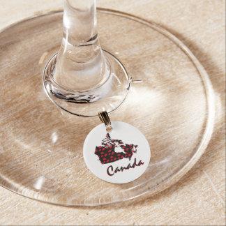 Unique fun Canadian red Maple Canada wine Charm