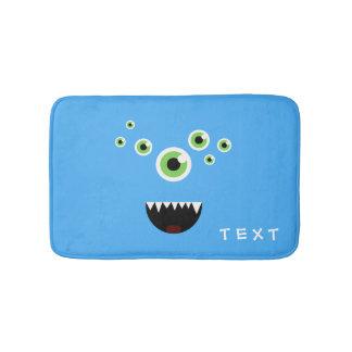 Unique Funny Crazy Cute Blue Monster Bath Mat