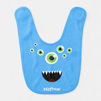 Unique Funny Crazy Cute Blue Monster Bib