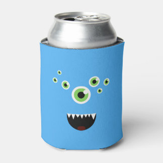 Unique Funny Crazy Cute Blue Monster Can Cooler