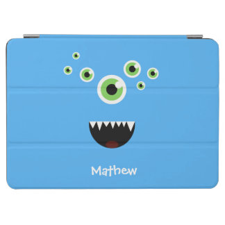 Unique Funny Crazy Cute Blue Monster iPad Air Cover