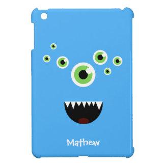 Unique Funny Crazy Cute Blue Monster iPad Mini Cover