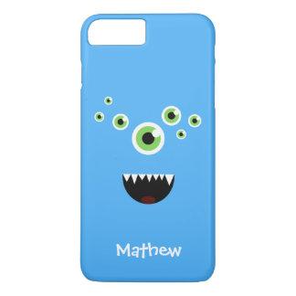 Unique Funny Crazy Cute Blue Monster iPhone 8 Plus/7 Plus Case