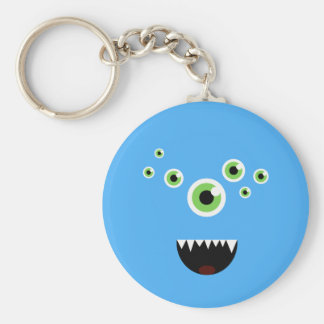 Unique Funny Crazy Cute Blue Monster Key Ring