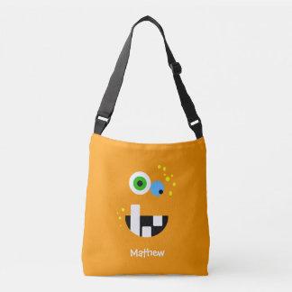 Unique Funny Crazy Oragne Monster Crossbody Bag