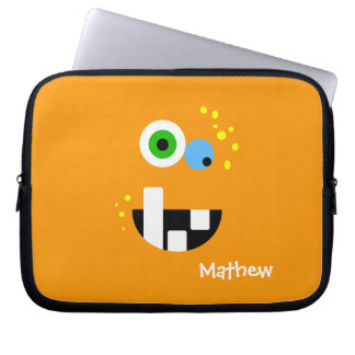 Unique Funny Crazy Oragne Monster Laptop Sleeve