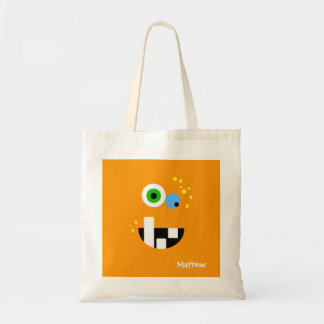 Unique Funny Crazy Oragne Monster Tote Bag