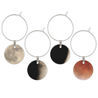 Unique Geeky Blood Moon Lunar Eclipse Sequence Wine Charm