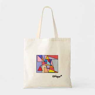 Unique geometric print tote for everyday use