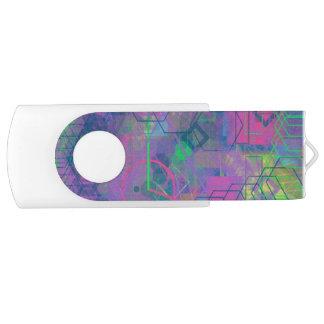 Unique Geometric Swivel USB 3.0 Flash Drive