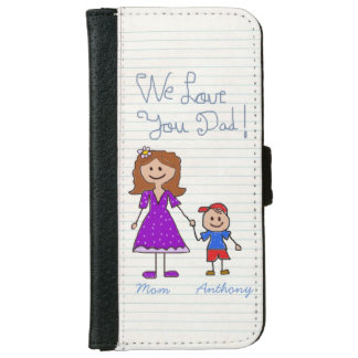 Unique gift for dad,world's best dad iPhone 6 wallet case