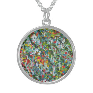 Unique Gifts Medium Sterling Silver Round Necklace