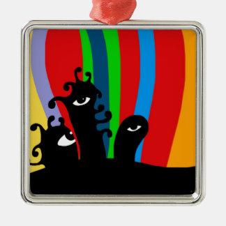 Unique gifts Silver-Colored square decoration