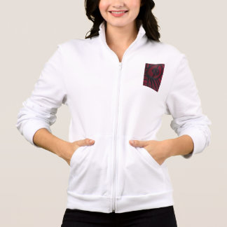 Unique Gifts - Women's White Jogger Printed Jacket