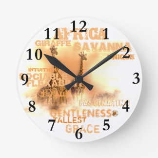 Unique Giraffes Round (Medium) Wall Clock