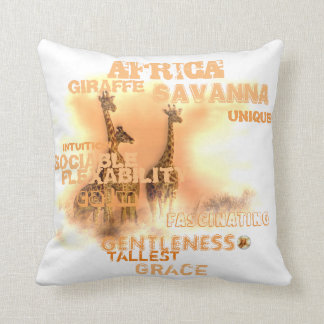 Unique Giraffes Throw Pillow
