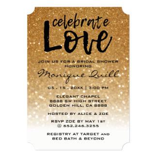 Unique Glitter & Gold | Wedding Arrows Invitation
