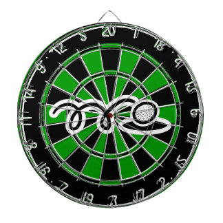 Unique golfing gift - Dartboard with golf print