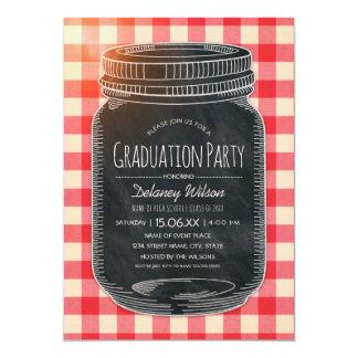 Unique Graduation Party Rustic Country Mason Jar Card