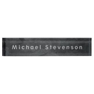 Unique Grey Elegant Modern Minimalist Design Nameplate