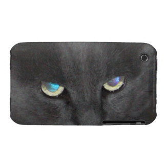 Unique Grey Kitty Cat w/ Colored Eyes Case-Mate iPhone 3 Case