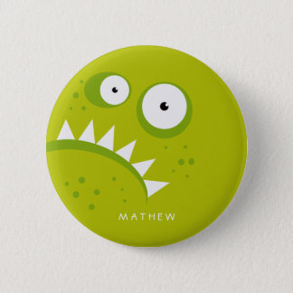 Unique Grumpy Angry Funny Scary Green Monster 6 Cm Round Badge
