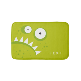 Unique Grumpy Angry Funny Scary Green Monster Bath Mat