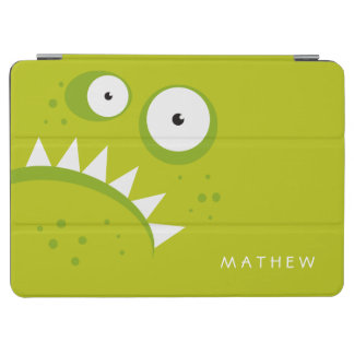 Unique Grumpy Angry Funny Scary Green Monster iPad Air Cover