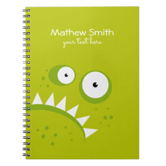 Unique Grumpy Angry Funny Scary Green Monster Notebook