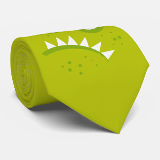 Unique Grumpy Angry Funny Scary Green Monster Tie