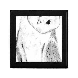 Unique Hand Drawn Barn Owl Gift Box