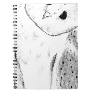 Unique Hand Drawn Barn Owl Notebook