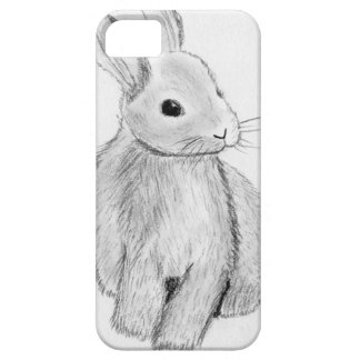 Unique Hand Drawn Bunny Barely There iPhone 5 Case