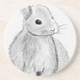 Unique Hand Drawn Bunny Coaster