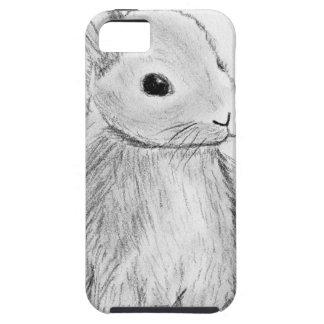 Unique Hand Drawn Bunny Tough iPhone 5 Case