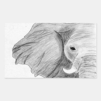 Unique Hand Drawn Charcoal Elephant Sticker