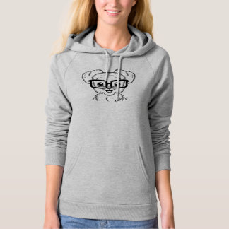 Unique Hand Drawn Nerdy Dog Art Women's Hoodie
