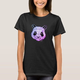 Unique Hand Painted Twilight Panda Women's T-shirt