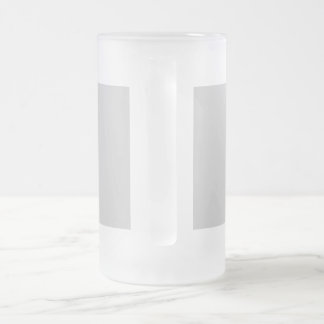 Unique, handmade, flowery frosted glass beer mug