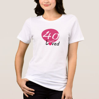 Unique Happy Birthday Lady T-shirt  40 years
