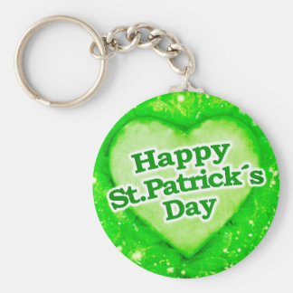 Unique Happy St Patrick´s Day Design Basic Round Button Key Ring