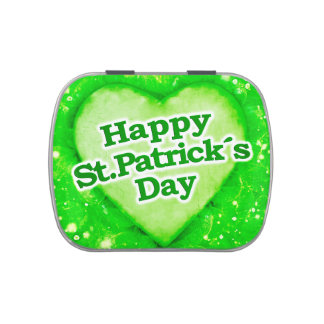 Unique Happy St. Patrick´s Day Design Jelly Belly Candy Tins