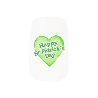 Unique Happy St. Patrick´s Day Design Nail Sticker