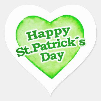 Unique Happy St. Patrick´s Day Design Heart Sticker