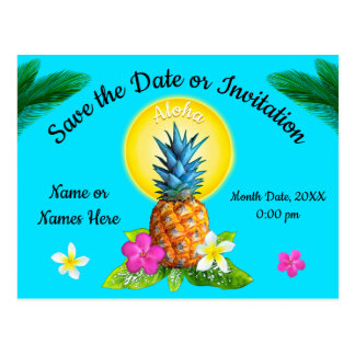 Unique Hawaiian Save the Date Cards. Any Occasion Postcard