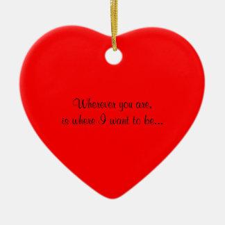 Unique Heart Wedding  Proposal Idea Ornament