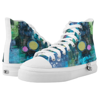 Unique High Top Tennis Shoes Womens Art Shoes