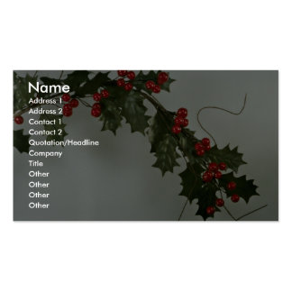 Unique Holly gift for special occasions Business Card Template