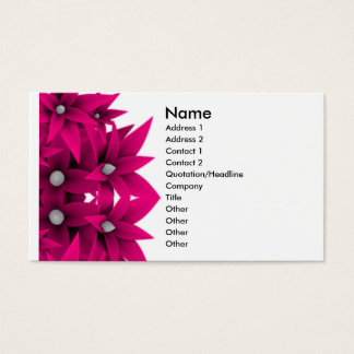 Unique Hot Pink Flowers Business Card