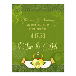 Unique Irish Wedding Save the Date Postcard